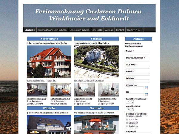Ferienwohnungen Cuxhaven Duhnen